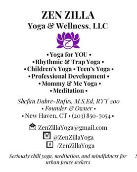 Zen Zilla Yoga and Wellness, LLC offers