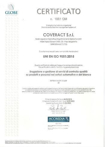 Certificazioen UNI EN ISO 9001 2015 - SC