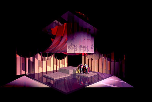 Turandot scenic design Act Two Courtyard