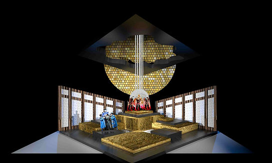 Turandot scenic design Act One throne room