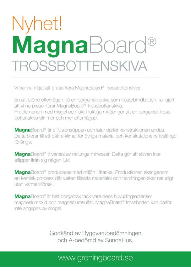MagnaBoard Trossbottenskiva
