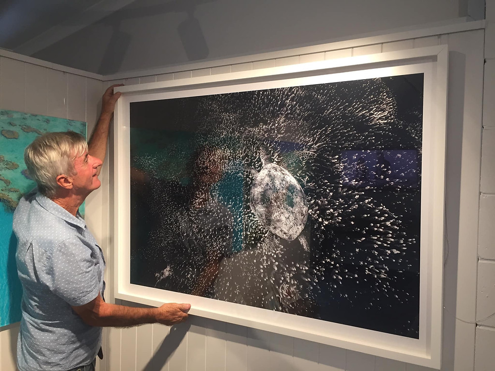 Hanging of new art at the Stuart McKay Gallery