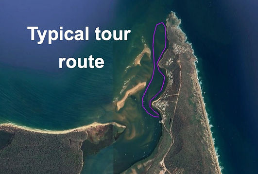 sunset tour route