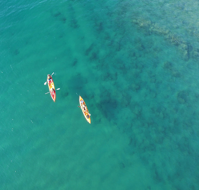 kayaking aerial image