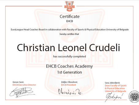 EHCB Certification
