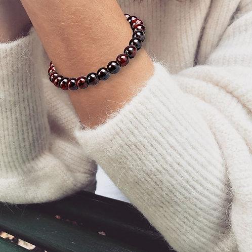 Bracelet «Motivation» Grenat