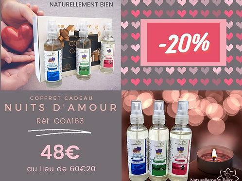 """Coffret Cadeau Couple """"Nuits d'Amour"""""""