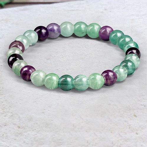 Bracelet «Sagesse» Fluorite