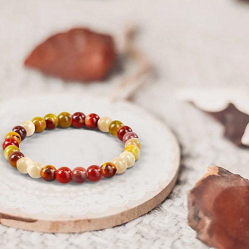 Bracelet «Courage» Jaspe Mookaite