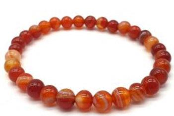 Bracelet 100% pierre naturelle, Cornaline