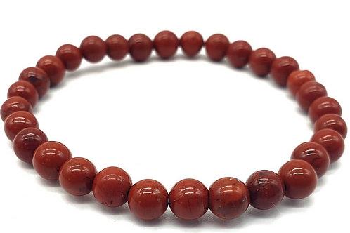 Bracelet 100% pierre naturelle, jaspe rouge