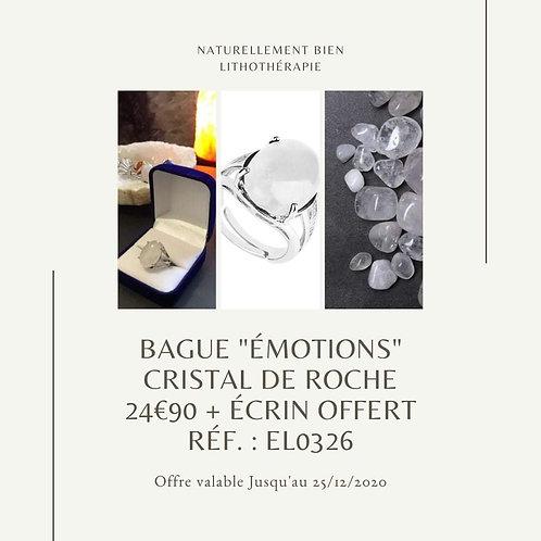 """Bague """"Émotions"""" Cristal de Roche"""