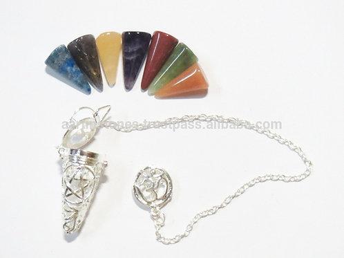 Pendule Pentagramme Chakras