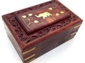 Boîte de rangement en bois, éléphant