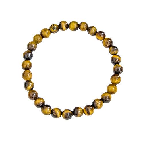 Bracelet 100% pierre naturelle, Œil de tigre