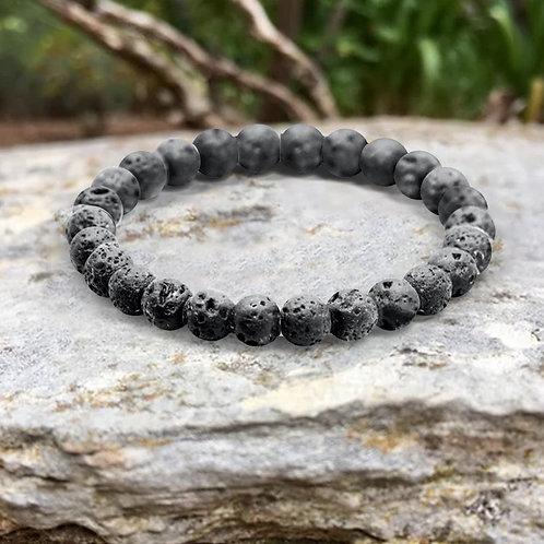 Bracelet «Soutien» Pierre de Lave