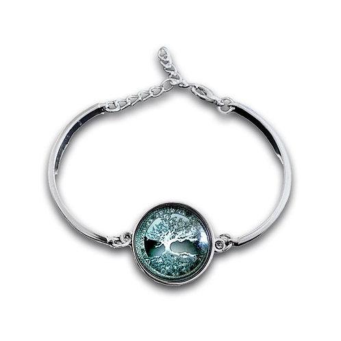 Bracelet-jonc Cabochon Arbre de vie