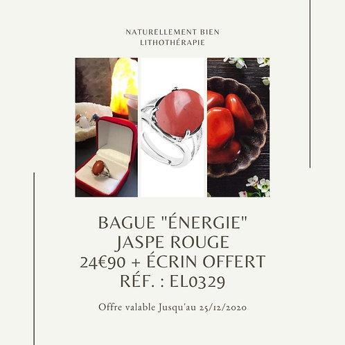 """Bague """"Énergie"""" Jaspe Rouge"""