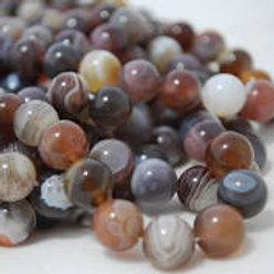 Agathe Bostwana, perles de 8 mm sur fil de 40 cm