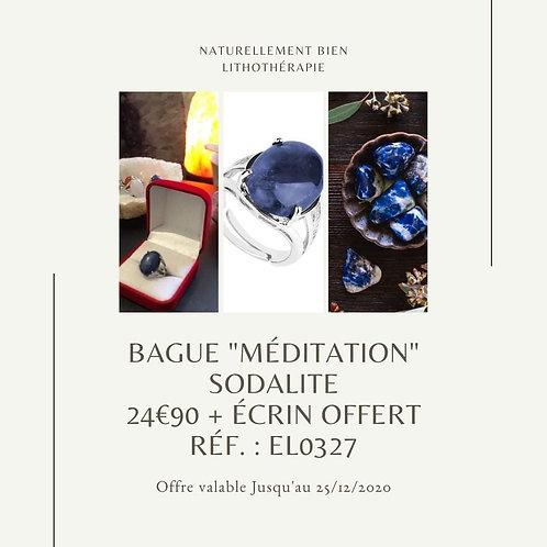 "Bague ""Méditation"" Sodalite"