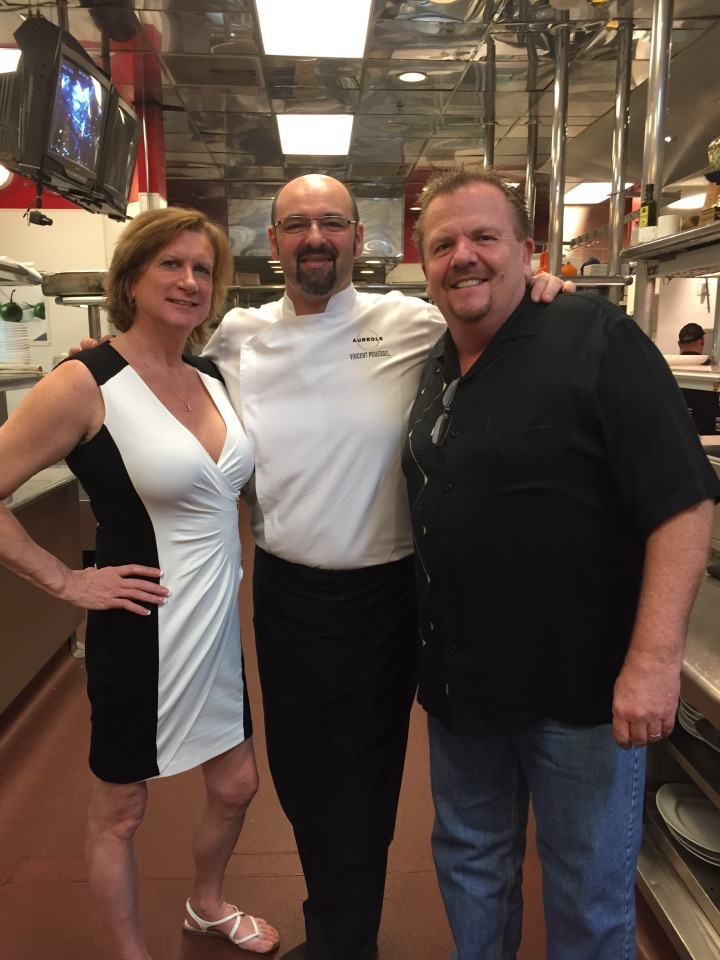 With our friend Chef Vincent Pousell