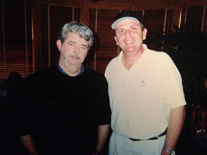 With George Lucas in his office at Skywalker ranch!