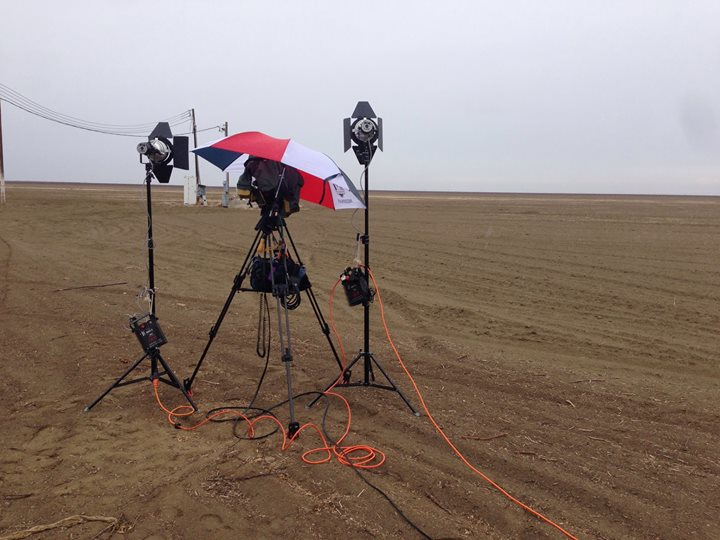 Rain and mud!   TV is glamorous!