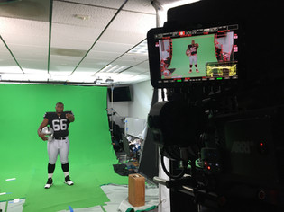 Great Day with Oakland Raiders Shooting Chromakey for Monday Night Football!