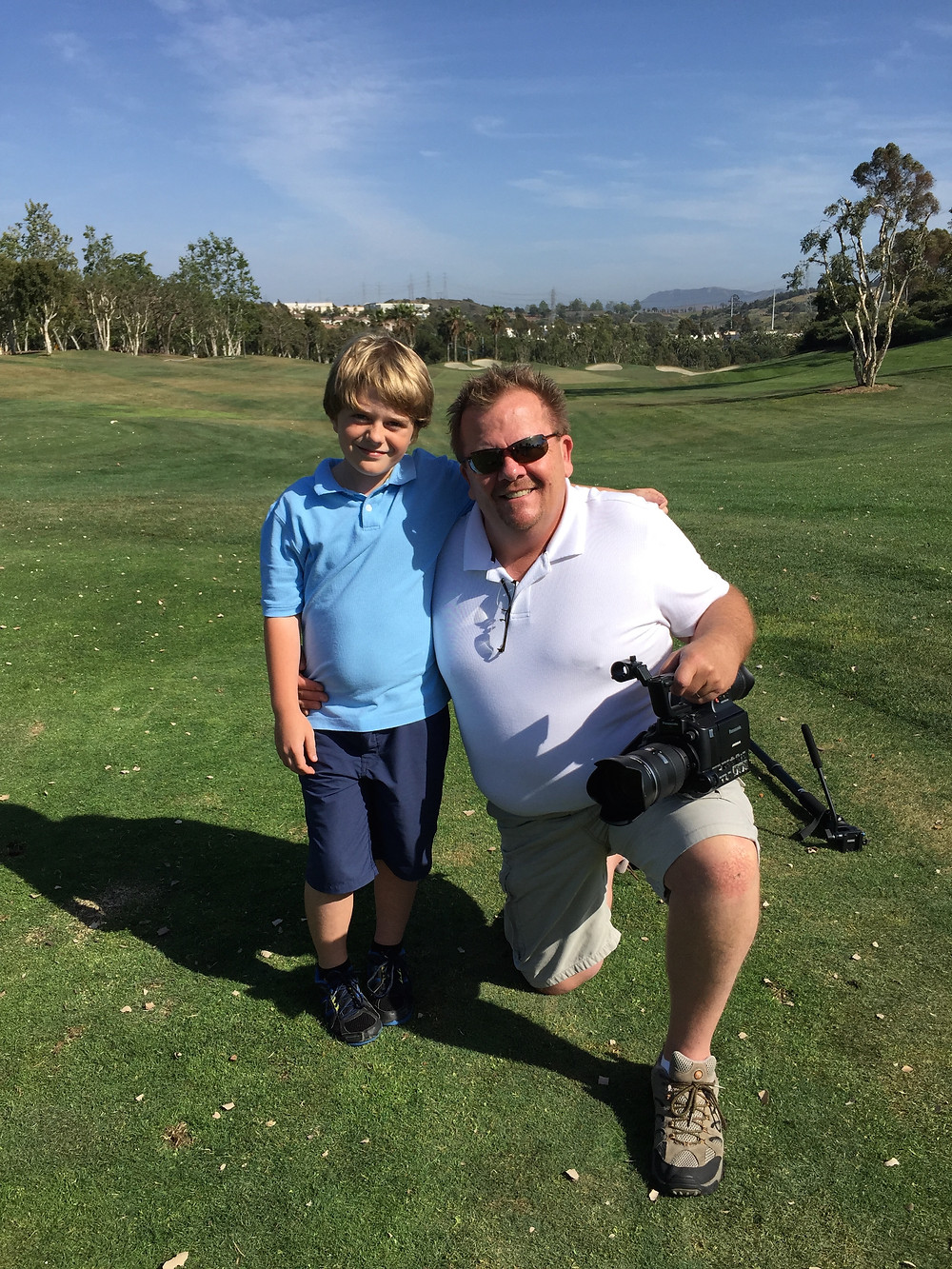 With Max Page on Golf Course!
