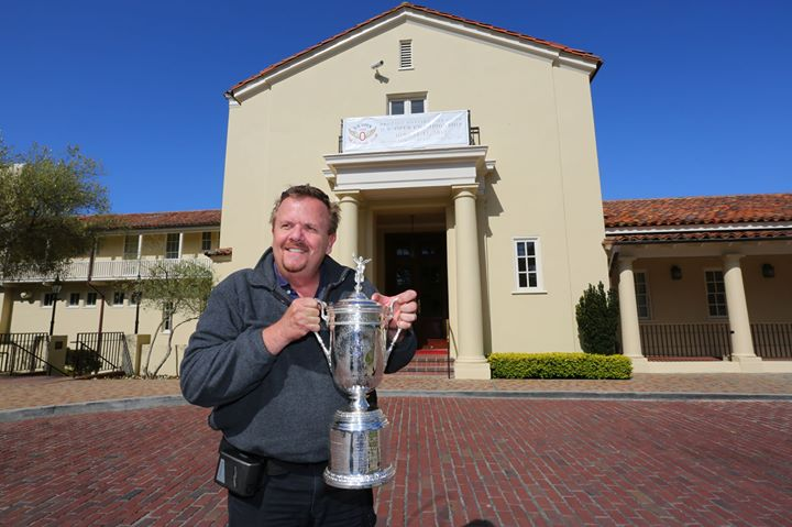 With the US Open Trophy