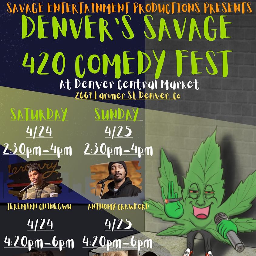 420 Comedy Fest @ Denver Central Market! (Saturday)
