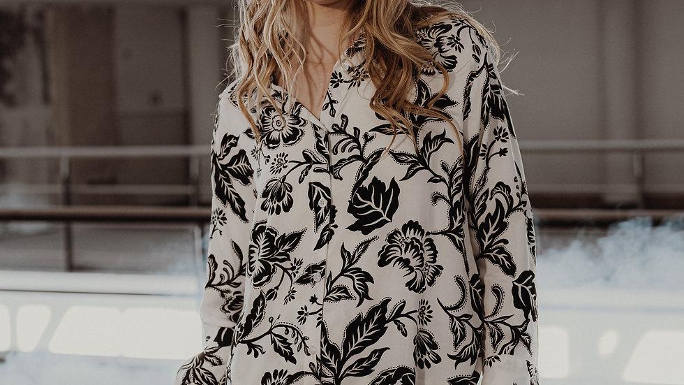 Camisa Bora Bora / Black & White