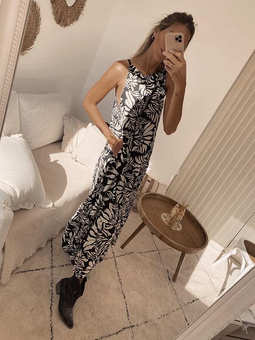 Flora Dress / Black Estampado
