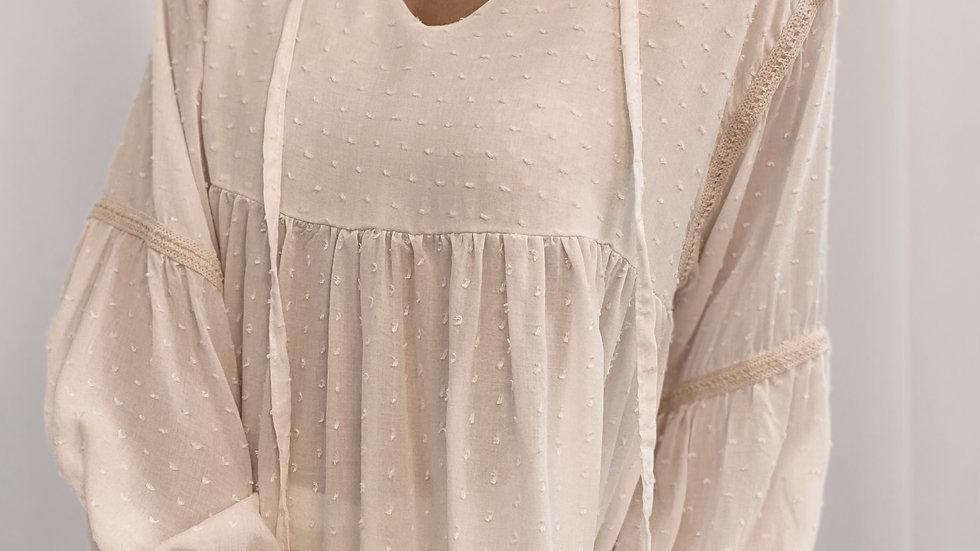 Blusa Indi Plumetti / Off White