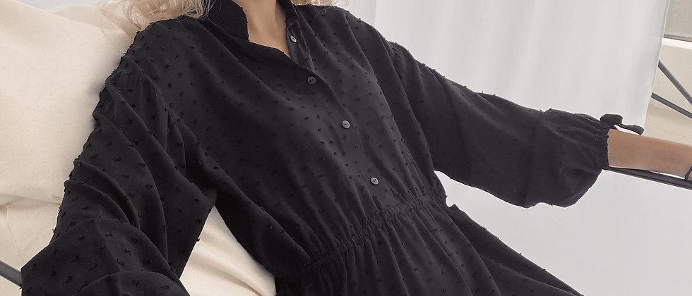 Lawrence Dress / Black Plumetti