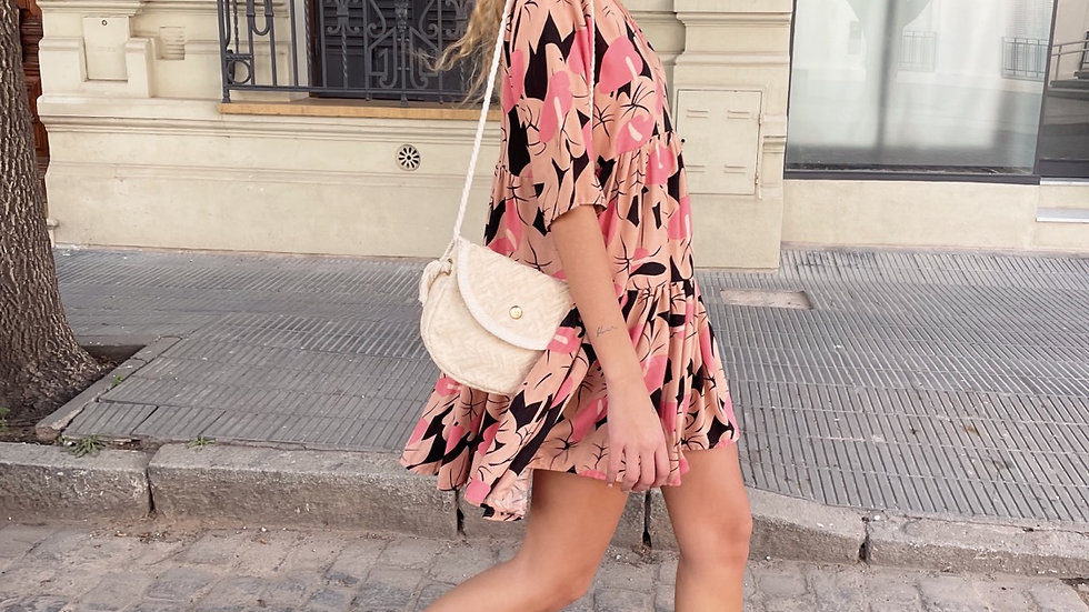Mini Colonial Dress / Est. Pink