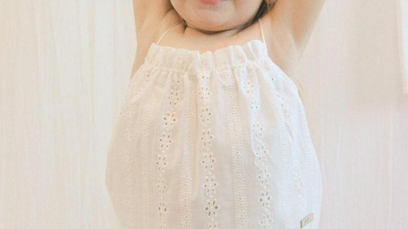 Mini Top Paz Broderie / Off White