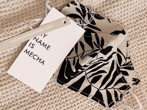 Tapabocas Mecha Estampado / Black & White