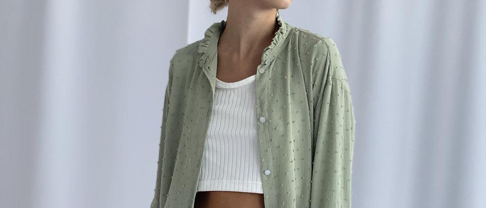 Camisa Paula Plumetti / Soft Green