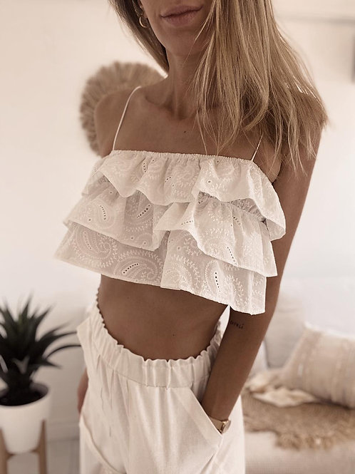 Top Lilium Broderie / Off White