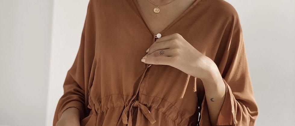 Camisa Gales Poplin / Brown