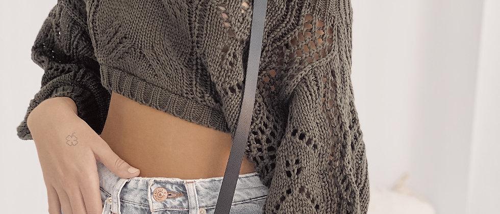 Crop Sweater Homesick / Safari