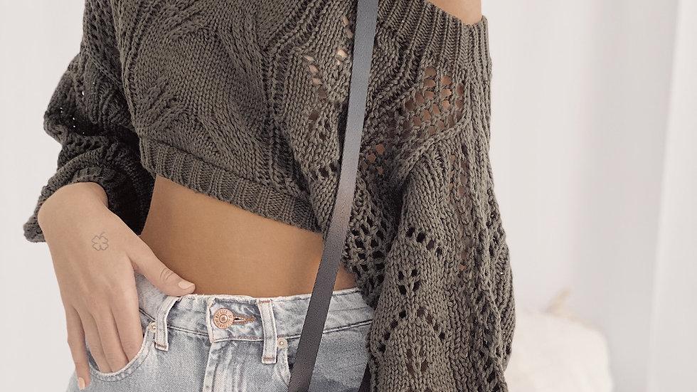 Crop Sweater Homesick / Militar