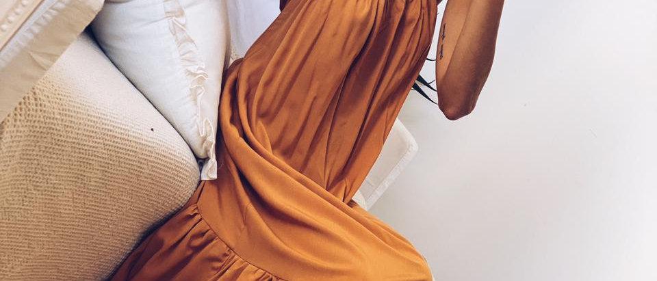 Classy Paz Dress Poplin / Tostado