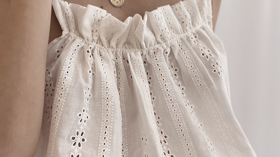 Top New Paz Broderie / Off White