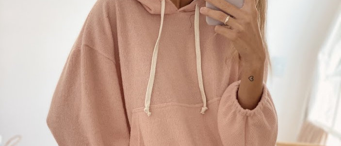 Hoodie Ginny / Baby Pink