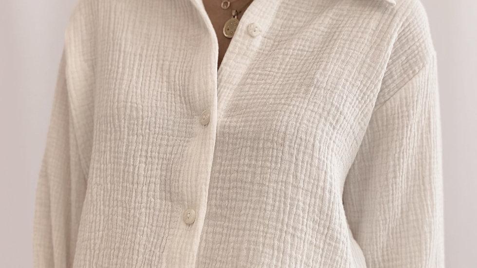 Camisa Grecia / Off White