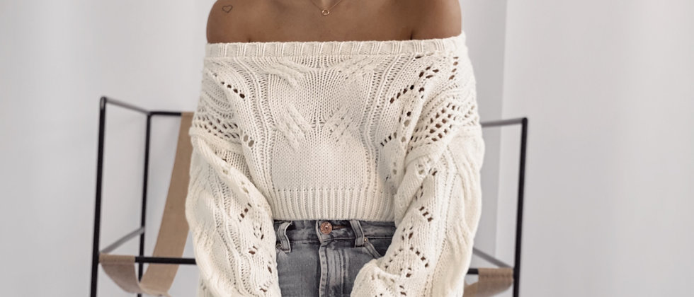 Crop Sweater Homesick / Off White