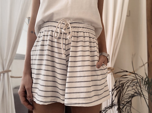 Clementine Short / Grey Stripes