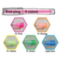 ③ Select an end plug color
